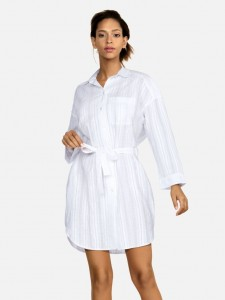 Shirt Dress Feba White